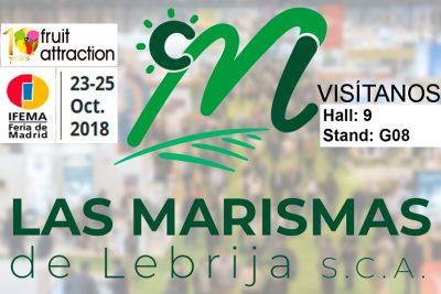 Las Marismas de Lebrija SCA expondrá su potencial hortícola en Fruit Attraction 2018