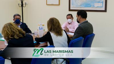 Reunión de trabajo para abordar la situación provocada por la entrega de derechos de emisión de CO2 en Las Marismas de Lebrija SCA.