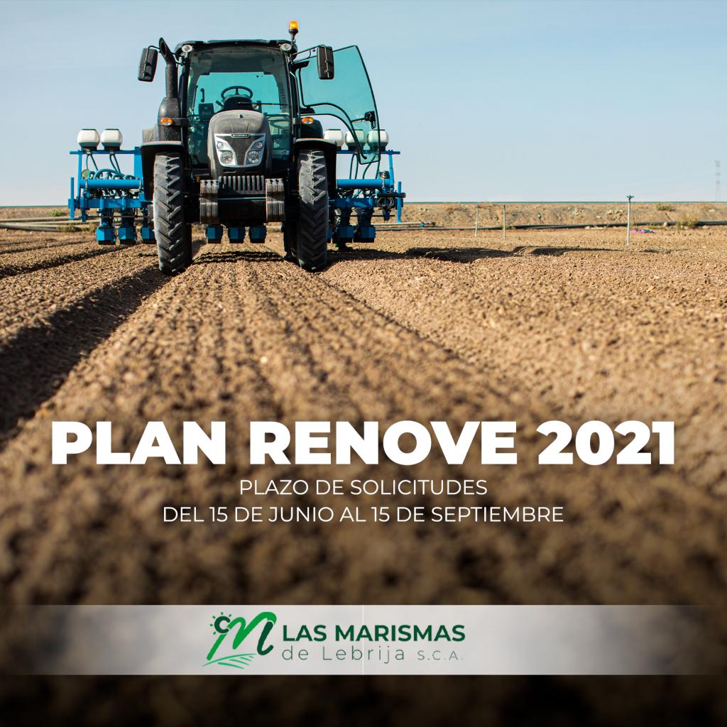 Fechas de solicitud Plan Renove maquinaria agraria 2021